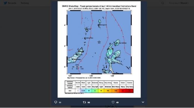 Masyarakat Diminta Waspada, Halmahera Barat Diguncang Gempa 6,5 SR