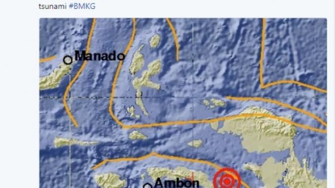 Tenggara Seram Maluku Diguncang Gempa Bumi Berkekuatan 5,2 SR