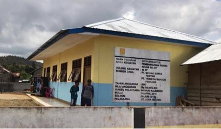 Harita Nickel Membangun Gedung Sekolah dan Menjadi Mediator Pengadaan Guru